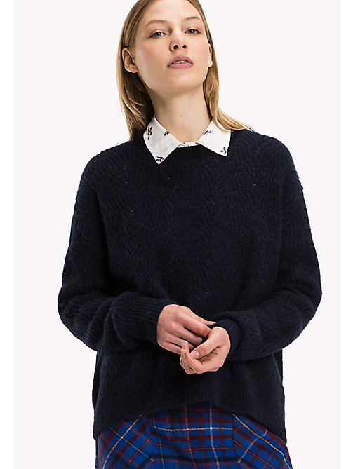 TOMMY HILFIGER Wool Blend Crew Neck Jumper - MIDNIGHT - TOMMY HILFIGER Women - main image