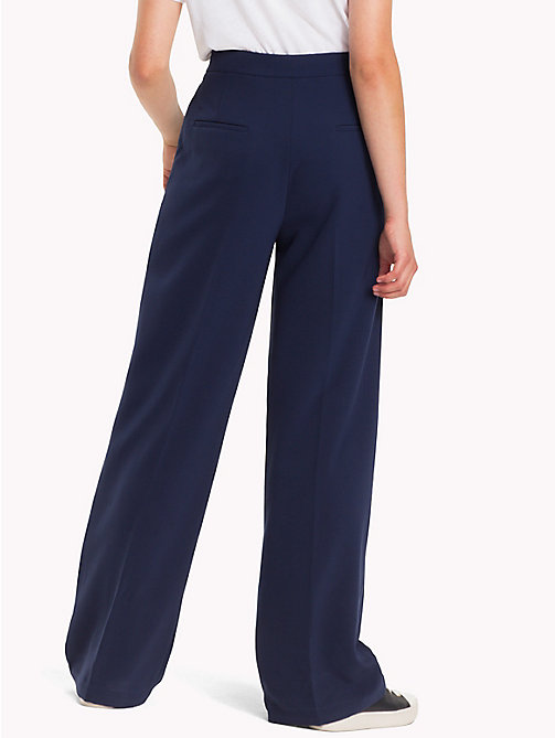 TOMMY HILFIGER Palazzo Trousers - PEACOAT -  Trousers - detail image 1