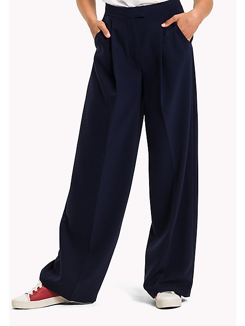 TOMMY HILFIGER Palazzo Trousers - PEACOAT -  Trousers - main image