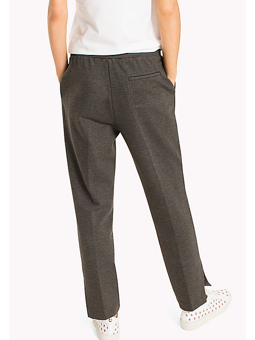 TOMMY HILFIGER Relaxed Fit Trousers - DARK GREY HTR - TOMMY HILFIGER Clothing - detail image 1