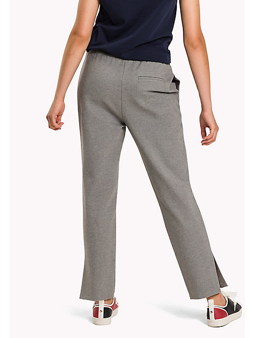 TOMMY HILFIGER Relaxed Fit Trousers - MEDIUM GREY HTR - TOMMY HILFIGER Trousers - detail image 1