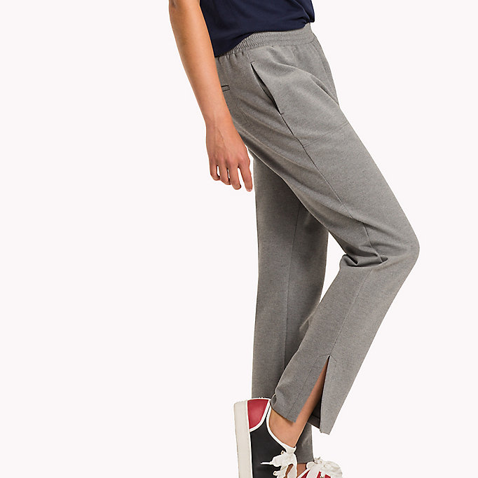 TOMMY HILFIGER Relaxed Fit Trousers - DARK GREY HTR - TOMMY HILFIGER Clothing - detail image 2