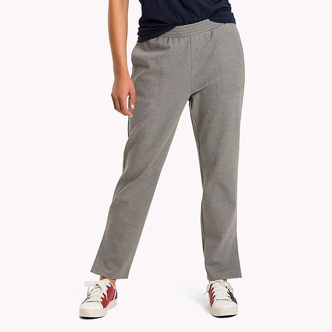 TOMMY HILFIGER Relaxed Fit Trousers - DARK GREY HTR - TOMMY HILFIGER Clothing - main image