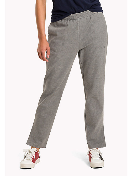 TOMMY HILFIGER Relaxed Fit Trousers - MEDIUM GREY HTR - TOMMY HILFIGER Trousers - main image