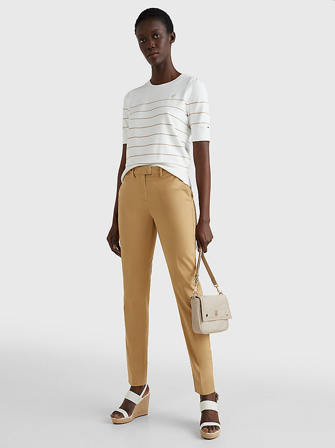 TOMMY HILFIGER Skinny Fit Chino - TAN - TOMMY HILFIGER Women - detail image 1