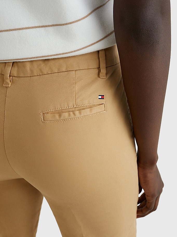 TOMMY HILFIGER Skinny Fit Chino - TAN - TOMMY HILFIGER Clothing - detail image 2