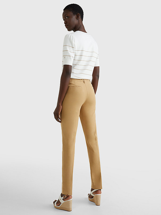 TOMMY HILFIGER Skinny Fit Chino - TAN - TOMMY HILFIGER Clothing - detail image 3