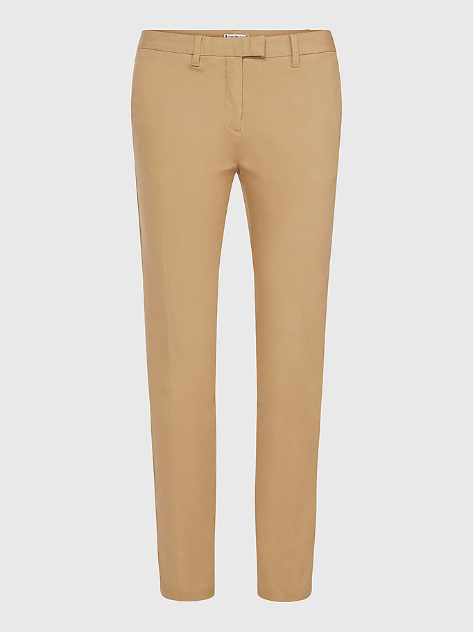 TOMMY HILFIGER Skinny Fit Chino - TAN - TOMMY HILFIGER Clothing - detail image 4