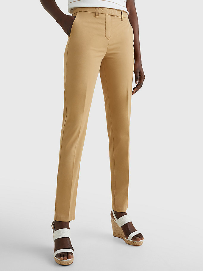 TOMMY HILFIGER Skinny Fit Chino - TAN - TOMMY HILFIGER Damen - main image