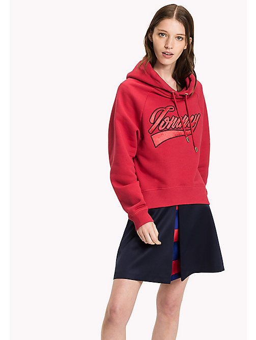 TOMMY HILFIGER Comfort fit hoodie - CRIMSON - TOMMY HILFIGER Sweaters & Hoodies - main image