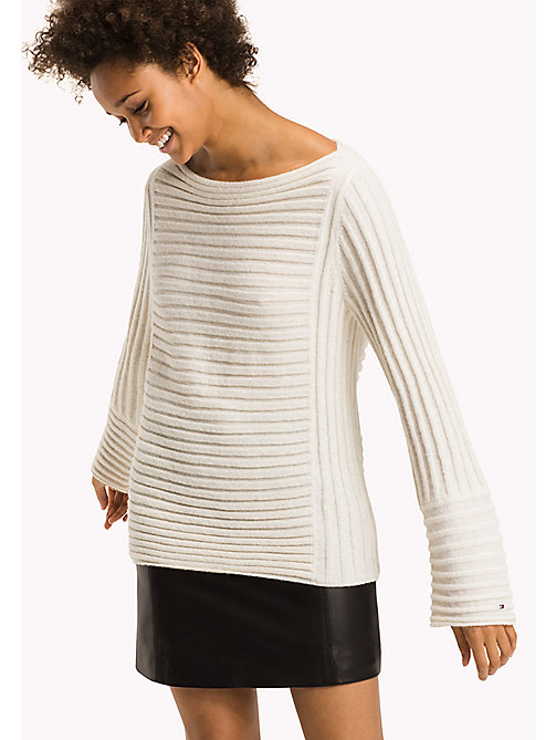 TOMMY HILFIGER Alpaca Wool Blend Jumper - SNOW WHITE - TOMMY HILFIGER Knitwear - main image