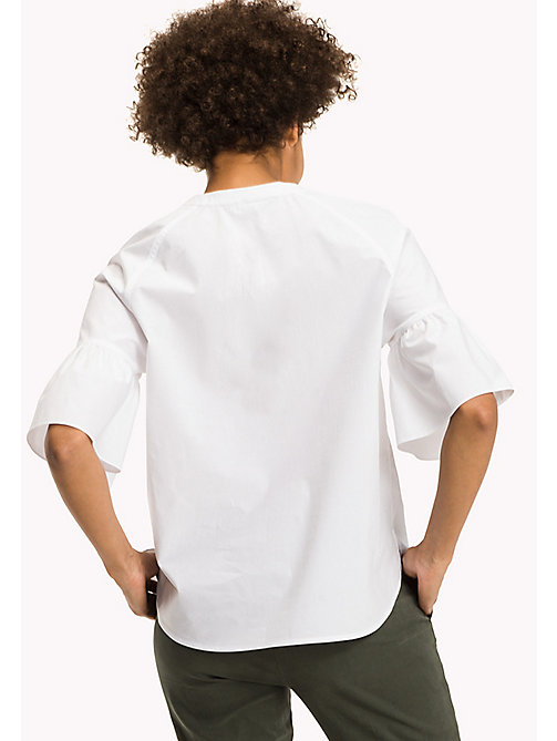 TOMMY HILFIGER Cotton Blouse - CLASSIC WHITE - TOMMY HILFIGER Tops - detail image 1