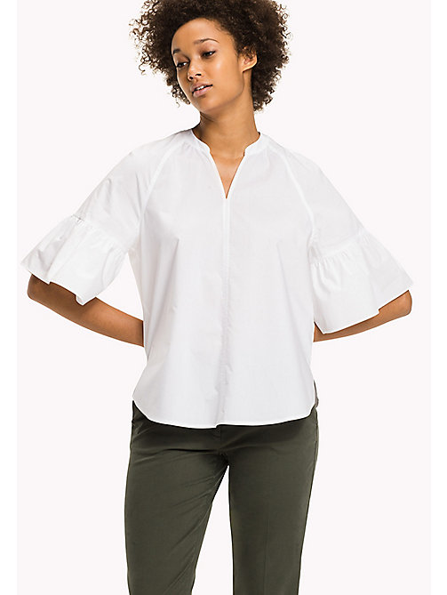 TOMMY HILFIGER Cotton Blouse - CLASSIC WHITE - TOMMY HILFIGER Tops - main image