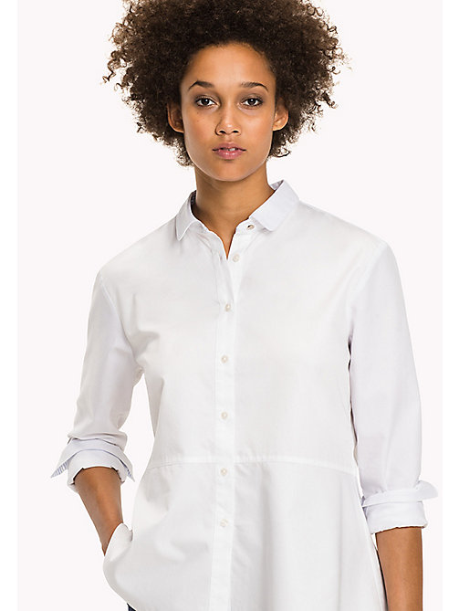 TOMMY HILFIGER Classic Cotton Shirt - CLASSIC WHITE - TOMMY HILFIGER Tops - main image