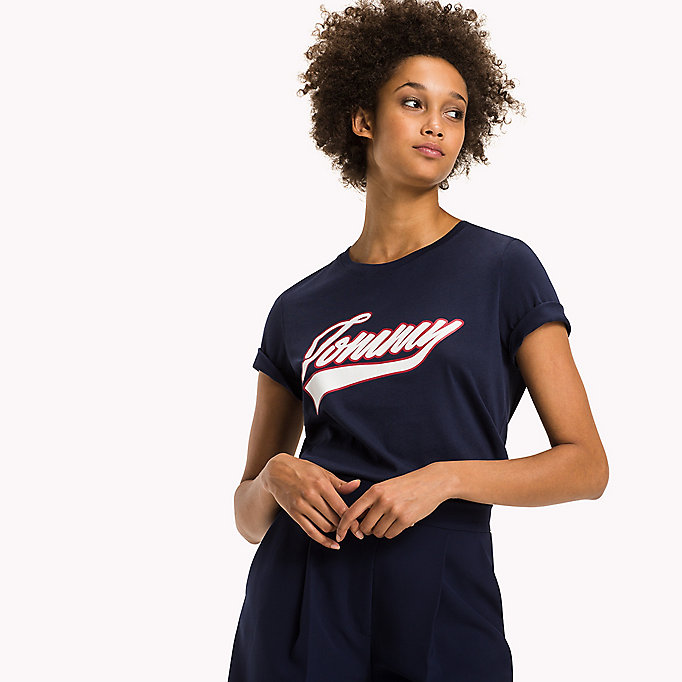 TOMMY HILFIGER Camiseta logo algodón orgánico - CLASSIC WHITE - TOMMY HILFIGER Mujer - imagen principal