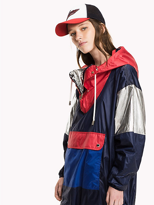 TOMMY HILFIGER Packable Windbraker - PEACOAT / MULTI - TOMMY HILFIGER Coats & Jackets - main image