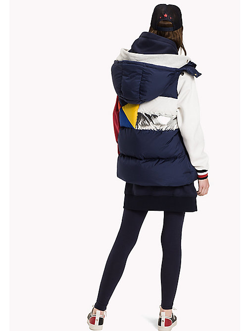 TOMMY HILFIGER Colourblocked Down Jacket - PEACOAT / MULTI - TOMMY HILFIGER Coats & Jackets - detail image 1