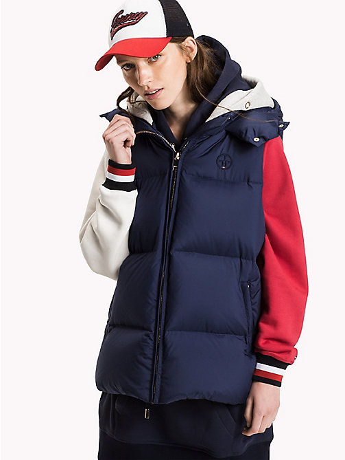 TOMMY HILFIGER Colourblocked donsjack - PEACOAT / MULTI - TOMMY HILFIGER Jassen & Jacks - main image