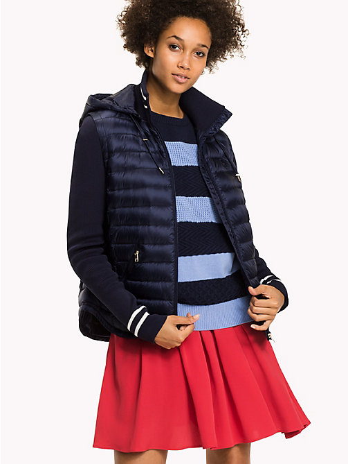 TOMMY HILFIGER Slim Fit Down Jacket - PEACOAT -  Coats & Jackets - main image