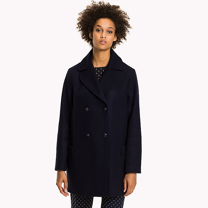 TOMMY HILFIGER Comfort Fit Wool Coat - HYDRANGEA - TOMMY HILFIGER Women - main image