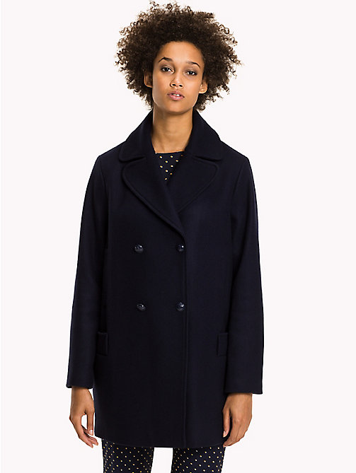 TOMMY HILFIGER Comfort Fit Wool Coat - PEACOAT - TOMMY HILFIGER Coats & Jackets - main image