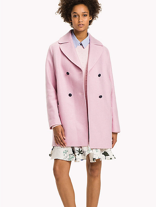 TOMMY HILFIGER Comfort Fit Wool Coat - ORCHID PINK - TOMMY HILFIGER Coats & Jackets - main image