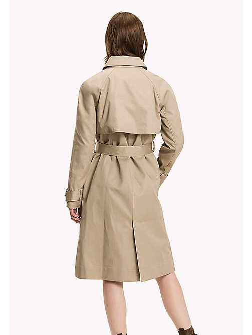 TOMMY HILFIGER Bonded Cotton Trench Coat - TAN - TOMMY HILFIGER Coats & Jackets - detail image 1