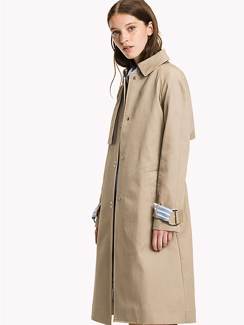 TOMMY HILFIGER Bonded Cotton Trench Coat - TAN - TOMMY HILFIGER Coats & Jackets - main image