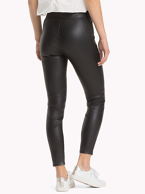 TOMMY HILFIGER Pure Leather Jeggings - BLACK BEAUTY - TOMMY HILFIGER Leather Trousers - detail image 1