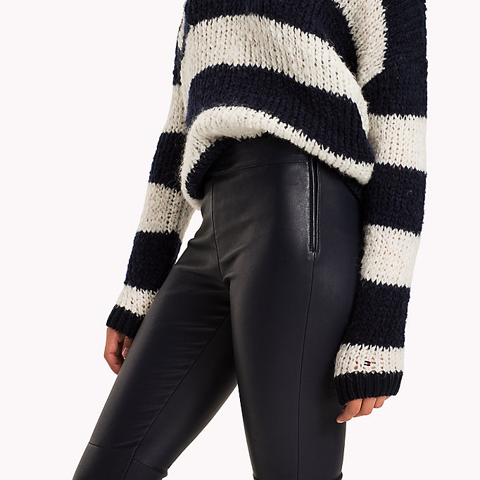 TOMMY HILFIGER Jeggings in pura pelle - BLACK BEAUTY - TOMMY HILFIGER Donne - dettaglio immagine 3