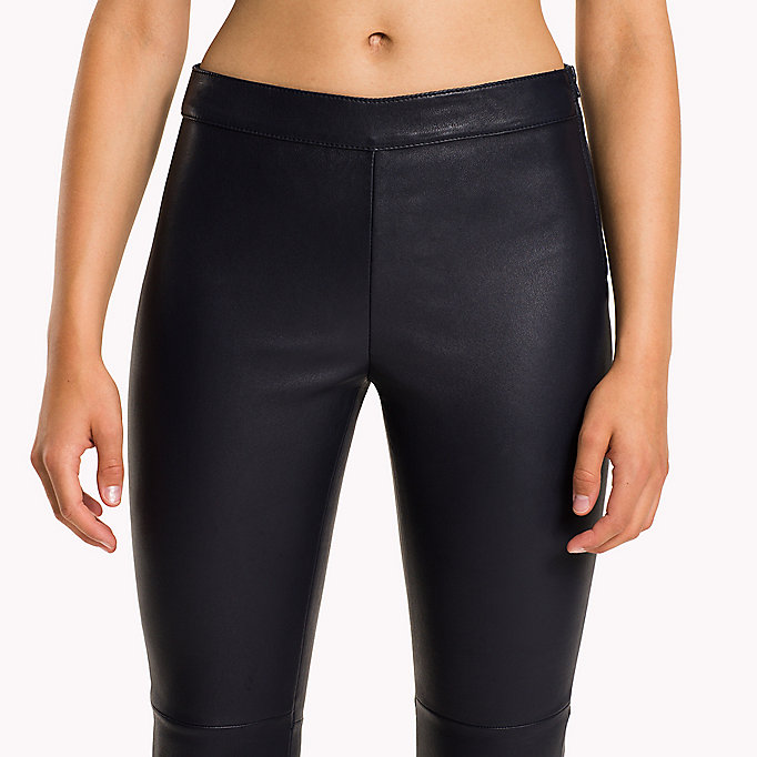 TOMMY HILFIGER Jeggings in pura pelle - BLACK BEAUTY - TOMMY HILFIGER Donne - dettaglio immagine 4