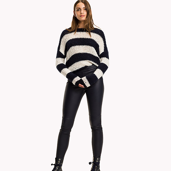 TOMMY HILFIGER Jeggings in pelle super slim fit - BLACK BEAUTY - TOMMY HILFIGER Abbigliamento - immagine principale