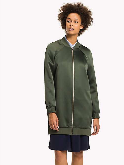 TOMMY HILFIGER Relaxed Fit Long Bomber - THYME - TOMMY HILFIGER Bomber Jackets - main image