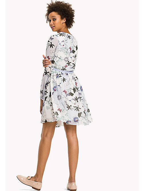TOMMY HILFIGER Fitted Floral Chiffon Dress - ITHACA FLORAL - TOMMY HILFIGER Dresses & Jumpsuits - detail image 1