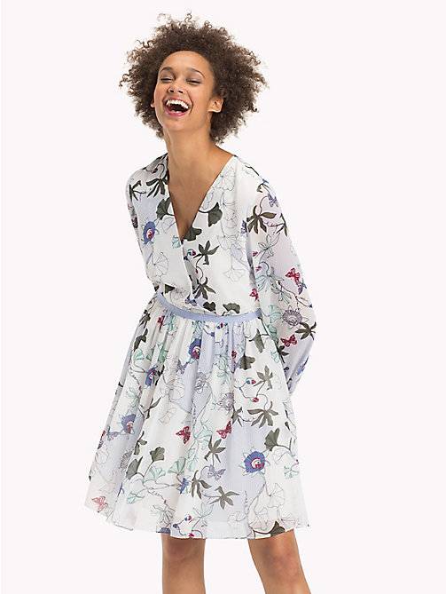 TOMMY HILFIGER Fitted Floral Chiffon Dress - ITHACA FLORAL - TOMMY HILFIGER Dresses & Jumpsuits - main image
