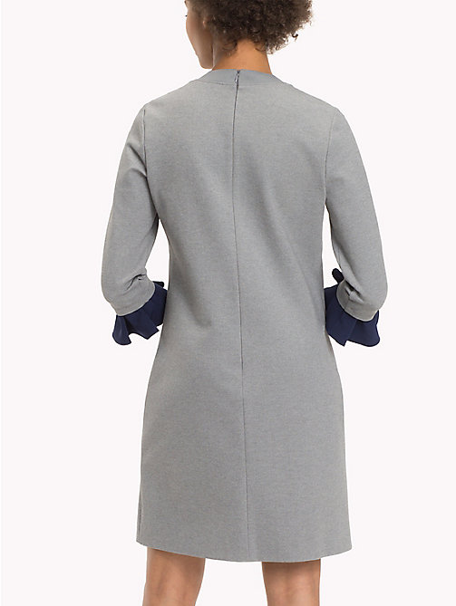 TOMMY HILFIGER Punto Milano Fitted Dress - MEDIUM GREY HTR -  Dresses & Jumpsuits - detail image 1