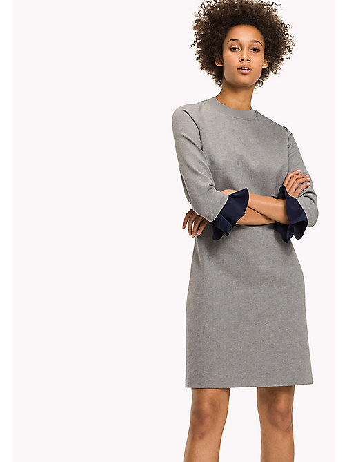 TOMMY HILFIGER Punto Milano Fitted Dress - MEDIUM GREY HTR -  Dresses & Jumpsuits - main image