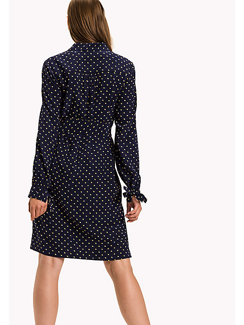TOMMY HILFIGER Flag Print Shirt Dress - TINY DOUBLE DOT PRT / PEACOAT - TOMMY HILFIGER Dresses & Jumpsuits - detail image 1