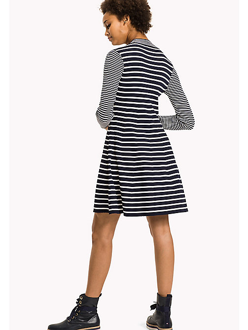 TOMMY HILFIGER Fit and Flare Striped Dress - PEACOAT / SNOW WHITE - TOMMY HILFIGER Dresses & Jumpsuits - detail image 1