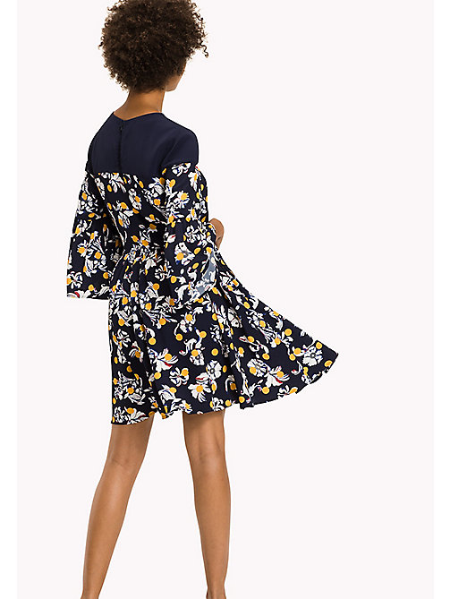 TOMMY HILFIGER Fitted Floral Print Dress - FLOWERY DOT / PEACOAT? FLOWERY DOT / PEA - TOMMY HILFIGER Dresses & Jumpsuits - detail image 1
