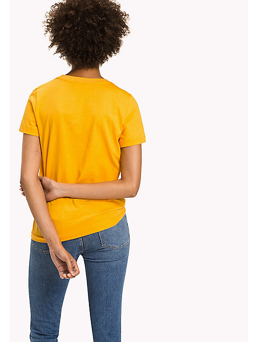 TOMMY HILFIGER Onmisbare regular fit top - RADIANT YELLOW - TOMMY HILFIGER T-Shirts - detail image 1