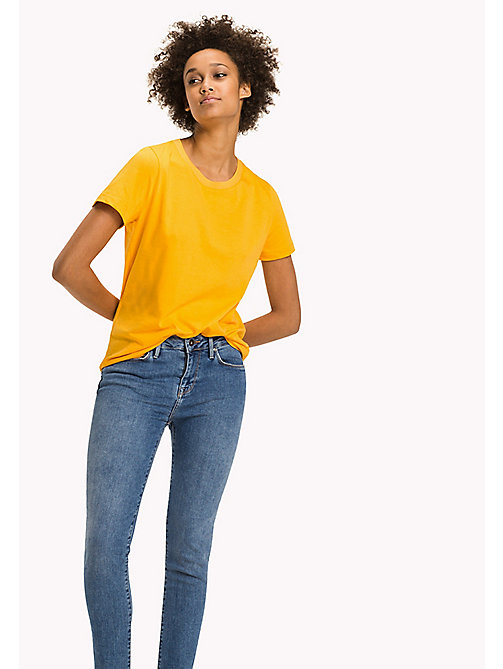 TOMMY HILFIGER Essential Regular Fit Top - RADIANT YELLOW - TOMMY HILFIGER Tops - main image