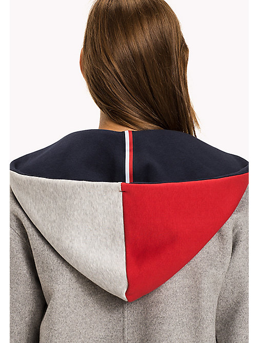 TOMMY HILFIGER Interchangeable Hood - LIGHT GREY HTR / PEACOAT / CRIMSON - TOMMY HILFIGER Clothing - detail image 1