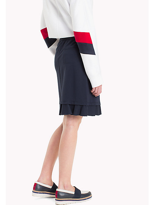TOMMY HILFIGER Punto Milano Fitted Skirt - PEACOAT - TOMMY HILFIGER Skirts - detail image 1