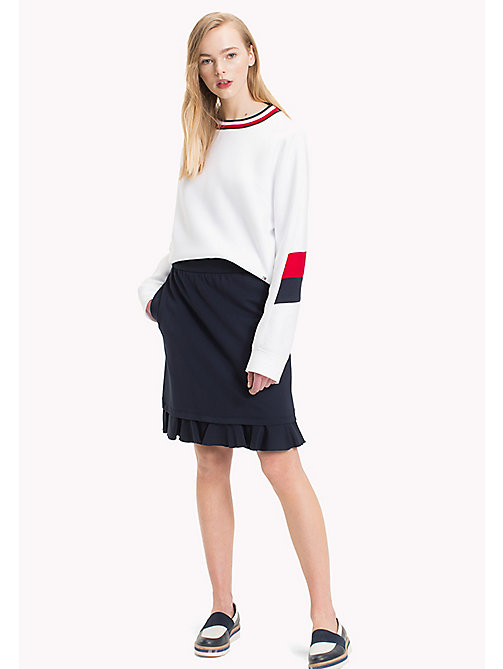 TOMMY HILFIGER Punto Milano Fitted Skirt - PEACOAT - TOMMY HILFIGER Skirts - main image