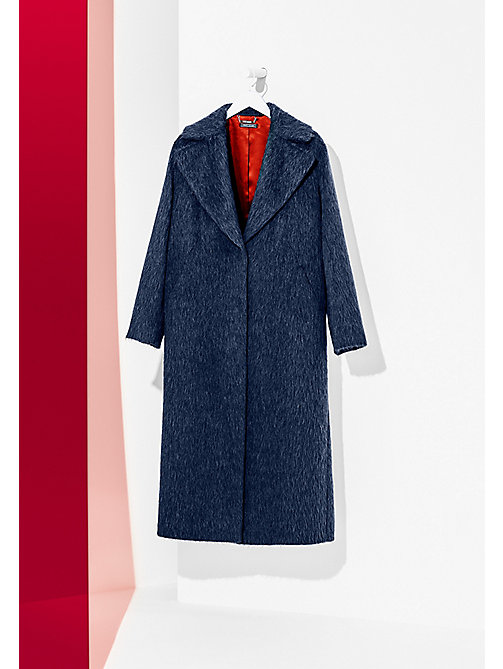TOMMY HILFIGER Long Wool Coat - SARGASSO SEA - TOMMY HILFIGER Coats & Jackets - main image