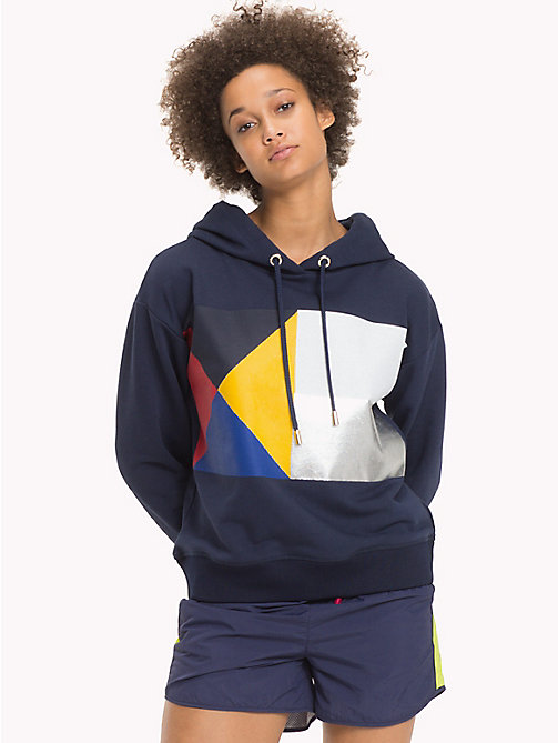 TOMMY HILFIGER Comfort fit hoodie - PEACOAT - TOMMY HILFIGER Sweaters & Hoodies - main image