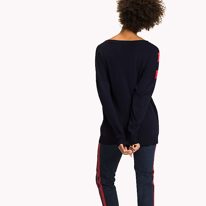 TOMMY HILFIGER Comfort Fit V-Neck Jumper - SNOW WHITE - TOMMY HILFIGER Women - detail image 1