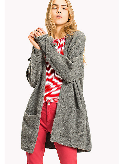 TOMMY HILFIGER PATTI OPEN WRAP - LIGHT GREY HTR - TOMMY HILFIGER Cardigan - immagine principale