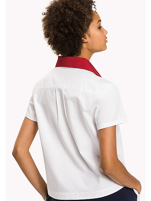 TOMMY HILFIGER Regular Fit Polo - CLASSIC WHITE - TOMMY HILFIGER Women - detail image 1